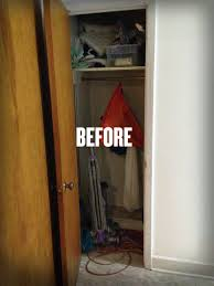 practically everyone has a weird closet that s just wasted space there s mine it s in the kitchen around a corner it has a 24 inch deep shelf up near