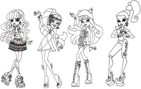 Small Picture Monster High Coloring Pages 3 New Hd Template 2069