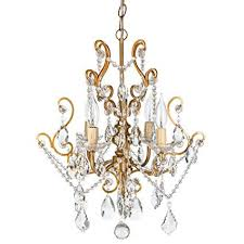 free wood beaded flush mount light theresa vintage gold crystal chandelier mini plug in swag glass