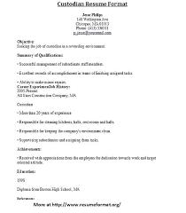 Janitor Resume Sample Custodian Resume Sample School Janitor Resume