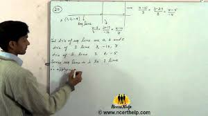 find the vector equation of the line passing through the point and perpendicular to the two lines you