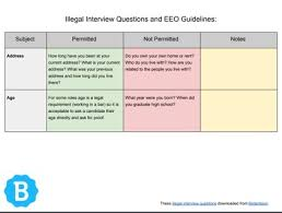 Interview Questions For New Graduates Illegal Interview Questions What Not To Ask Candidates