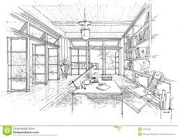 interior architecture sketch. Plain Sketch Download Interior Architecture Construction Landscape Sketc Stock  Illustration  Of Interior Architecture 18735561 And Sketch C