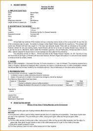 Sample Incident Report 24 Sample Employee Incident Report Letter Sumayyalee 20