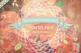 Create A Summery Garden Party Invite Using Fresh Floral