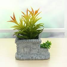 Decorative Planter Boxes Villa Flower Potdecorative Modern Flower Pot For Succulent Bonsai 94