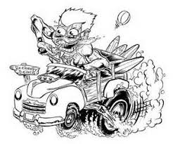 Small Picture 47 best Hot Rod Coloring images on Pinterest Rat fink Coloring