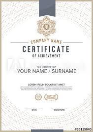 Merit Certificate Sample Fascinating Vector Certificate Template Award Certificate Pinterest
