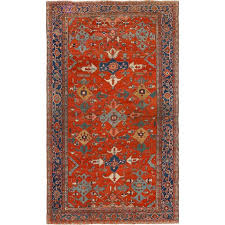 large red antique serapi persian rug for