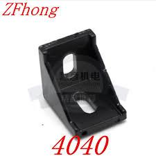 10pcs <b>4040</b> Black Corner Angle L Brackets Connector Fasten Fitting ...