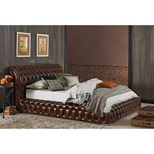 Leather bed | Home <3 | Pinterest | Bed Frame, Bedroom and Bed
