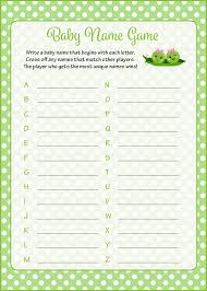 Woodland Baby Shower Game Baby Name Game Woodland AnimalBaby Name Games For Baby Shower