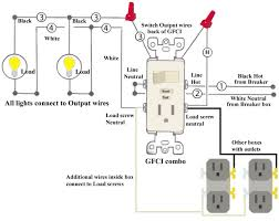 leviton gfci switch wiring diagram wiring diagram gfci wiring diagram out ground and schematic how do i connect a gfci outlet to single pole light switch source