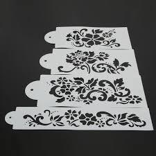 Stencil muro decorare e facile : 4pcs decorazioni di nozze riutilizzabile cottura stencil fai da te