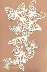 Paper Cutting Patterns New White Paper Butterfly Pattern Download Cutting Template Tutorial
