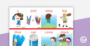 Dolch Sight Word Flash Cards With Pictures Pre Primer