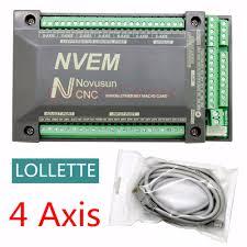 <b>4</b> Axis <b>NVEM CNC</b> Controller 200KHZ Ethernet <b>MACH3</b> Motion ...