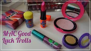 review mac good luck trolls collection haul