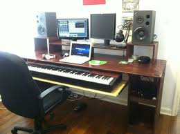 another angle of my studio desk that my friend and i built comment if