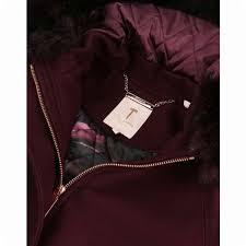 ted baker women s kalissa wool hooded parka jacket maroon parka ted baker jackets w jm765 for las santanamadeirabiosfera com