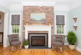 brick fireplace surround in mill blend thin brick veneer as seen on property brothers