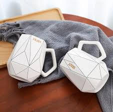 Office <b>Coffee Cup</b> Milk <b>Cup Ceramic Cup Creative Polygonal</b> ...