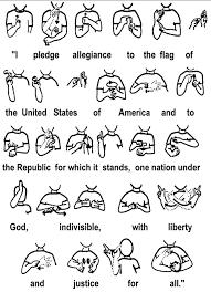 American Sign Pledge Asl Sign Language Sign Language