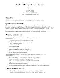 Commercial Property Manager Duties Sample Property Manager Resume
