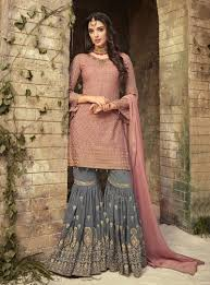 Designer Sharara Suits Pink Designer Mohini Party Wear Sharara Suit Online