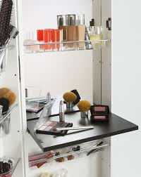 White Makeup Organizer Amazoncom Mirrotek Beauty Armoire Makeup Organizer With Vanity