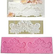 Anyana Sugar Edible Scroll Flower Lace Cake Silicone Embossing Mat