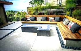 backyard seating ideas outdoor bench seat and back cushions courtyard inside idea 8 area an