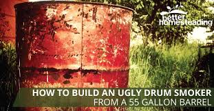 how to build a smoker from a 55 gallon drum like this one using basic tools