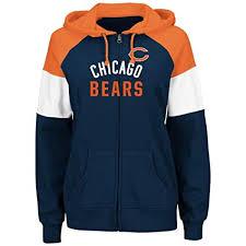Route Majestic Bears Sweatshirt Navy Women's Hooded Up Zip Hot Chicago