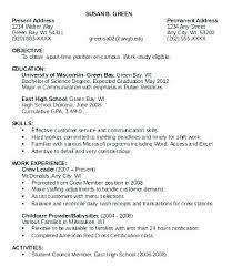 First Time Resume Template First Time Resume Samples Part Time Job Resume Template Part Time