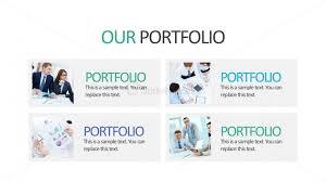 Business Portfolio Template Company Portfolio Editable Powerpoint Slide Slidemodel