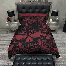 skull bedding set red and black collage skull bedding skull double duvet set uk skull bedding sets south africa