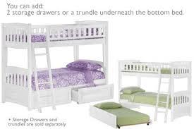 Cinnamon Twin Twin White Bunk Bed