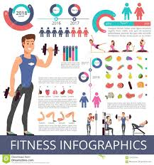 Sports And Healthy Life Vector Business Infographic With