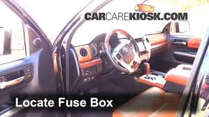 interior fuse box location 2014 2016 toyota tundra 2015 toyota locate interior fuse box and remove cover