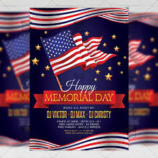 Memorial Day Flyer Seasonal A5 Template