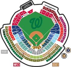 Nationals Seating Chart With Row Numbers 40 Actual Nationals Stadium Seating Chart For Concerts