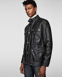 QUILTED FAUX LEATHER JACKET - JACKETS-MAN-SALE | ZARA United Kingdom & Image 2 of QUILTED FAUX LEATHER JACKET from Zara Adamdwight.com
