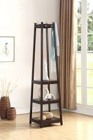 Espresso Coat Rack Tree Fascinating Espresso Hall Tree Entry Wood Hall Tree Ladder Coat Rack Tower 32