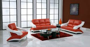 Red And White Leather Sofa Radiovannes Com