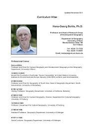 Curriculum Vitae Hans Georg Bohle Ph D Geographisches