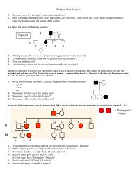 Pedigree Chart Worksheet With Answer Key Pedigree Worksheet