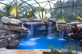 inground pools with rock waterfalls. Rock Waterfalls For Inground Pools Massive Natural Stone Grotto Waterfall And Spa Kits With