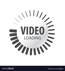 Abstract logo video loading Royalty Free Vector Image