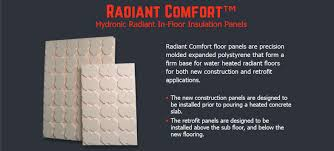 In Slab Radiant Heating Design Radiant Heat Panels And Insulation
